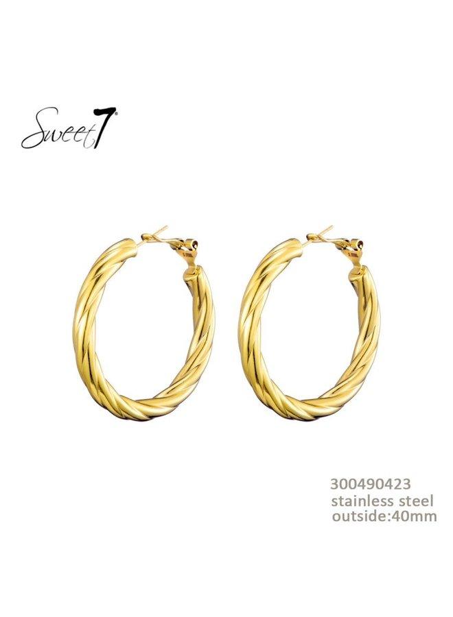 Sweet 7 oorbellen gold
