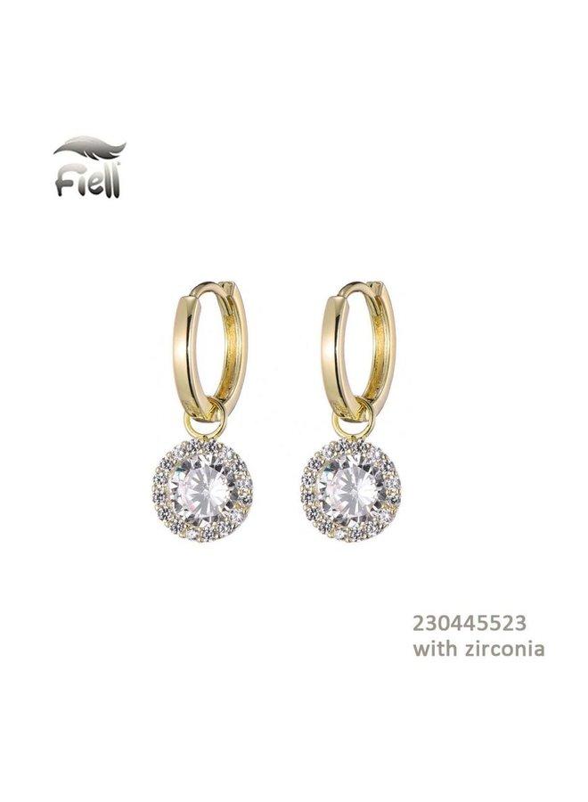 Fiell Zirconia Earrings Gold