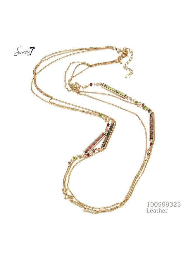 Sweet 7 Necklace Leather