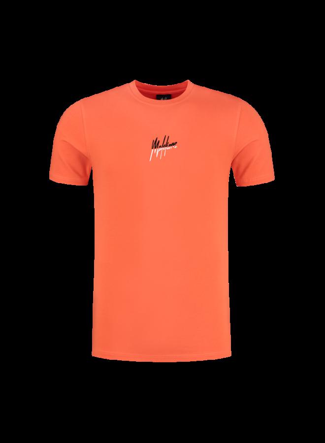 Split Signature T-Shirt Peach