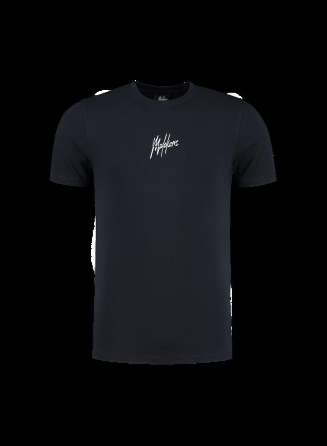 Split Signature T-Shirt Navy