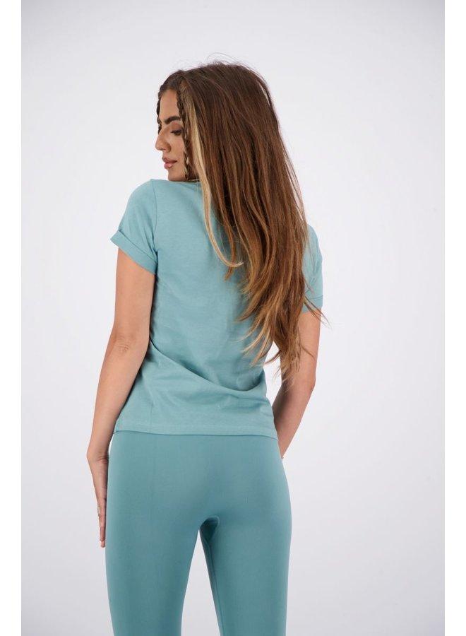 Livia T-Shirt Slim Fit Mineral Blue
