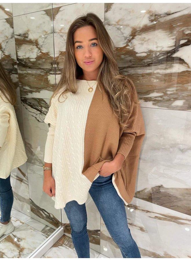 Zoe Pullover Brown / White
