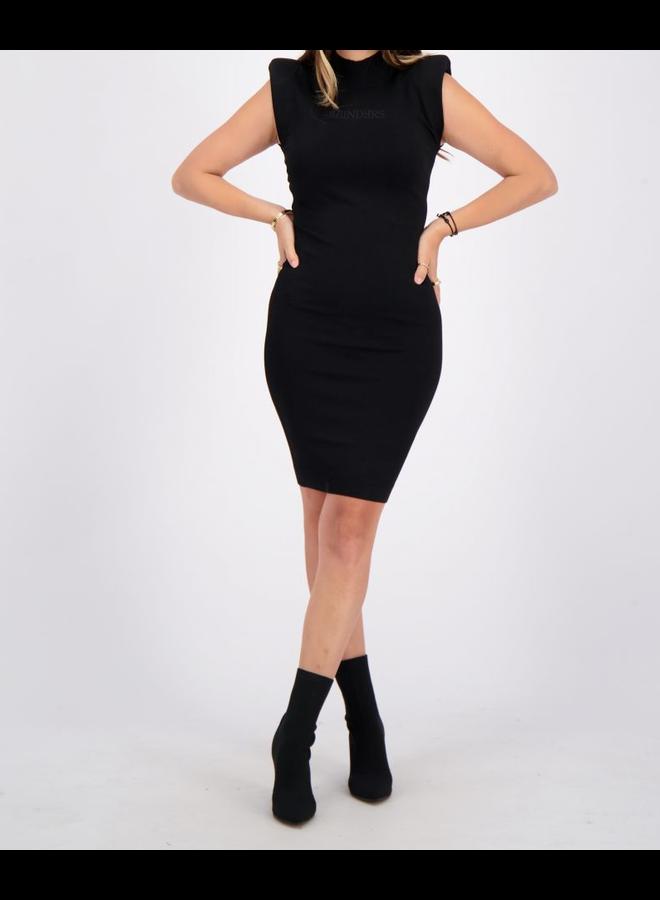 Dress Viscose Schoulder Pads True Black