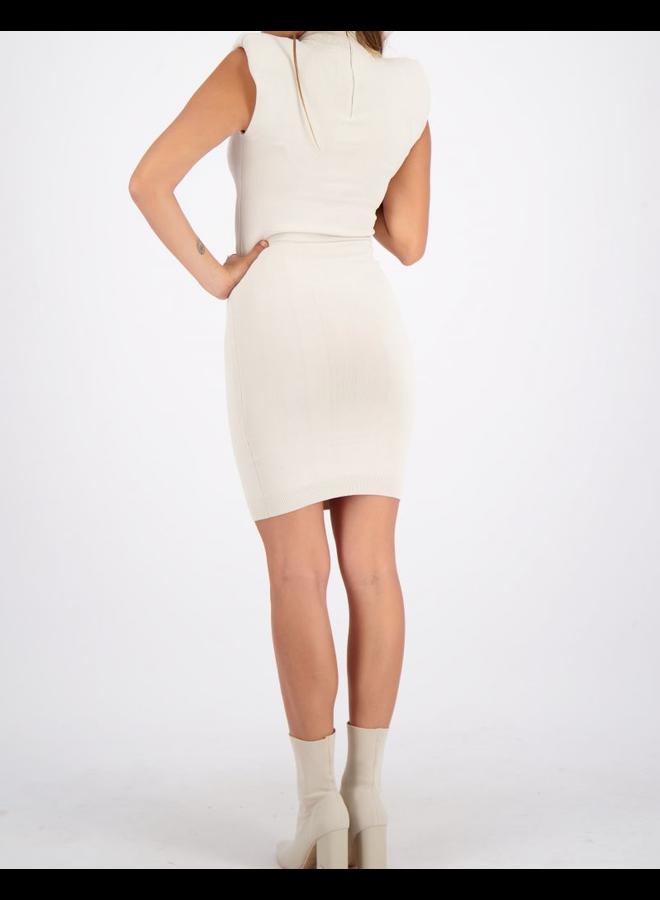 Dress Viscose Shoulder Pads Creme