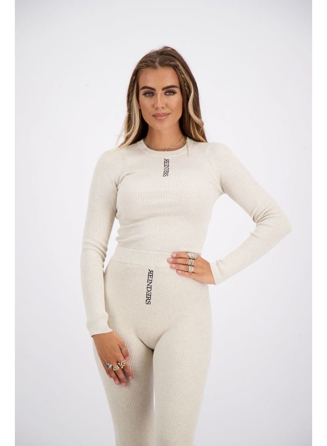 Livia Top Knitwear Long Sleeves Creme