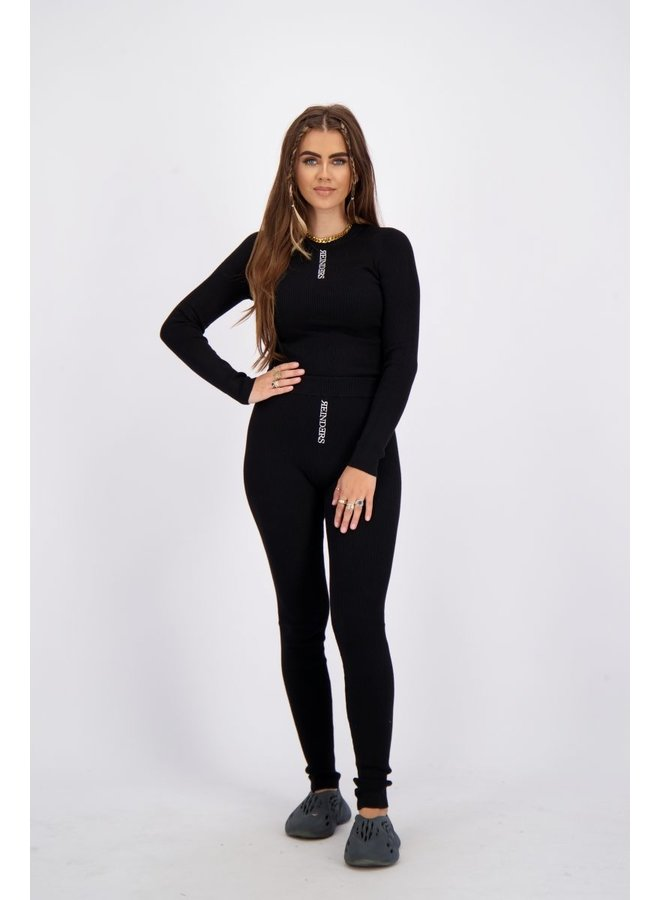 Livia Top Knitwear Longsleeve True Black