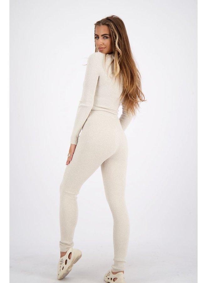Livia Pants Knitwear Creme