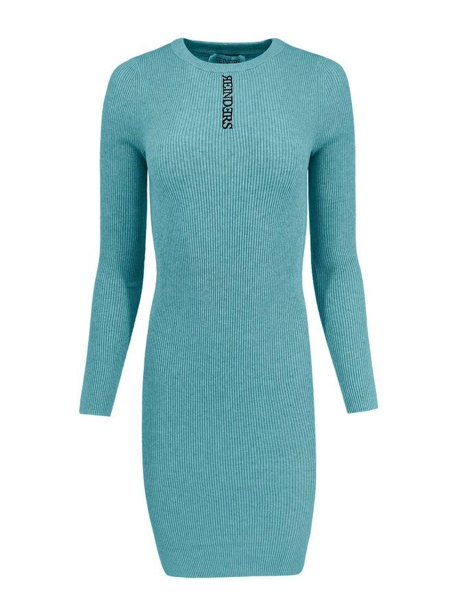 Livia Dress Knitwear Mineral Blue