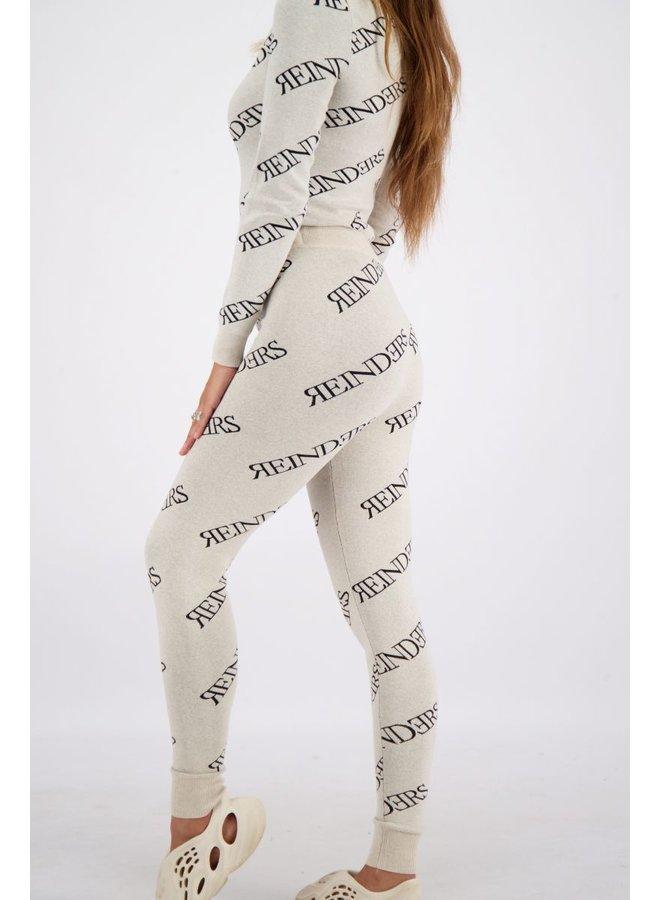 Pants All Over Prints Creme