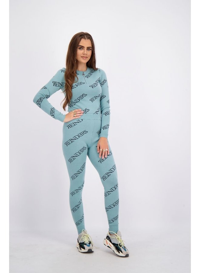Pants All Over Prints Mineral Blue