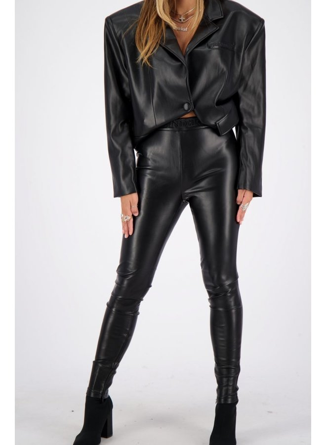 PU Legging Slim Fit Black