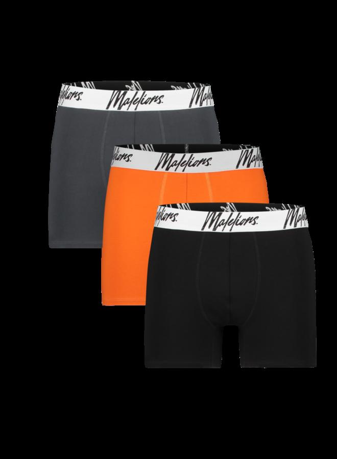 Boxer 3 Pack Antra / Orange