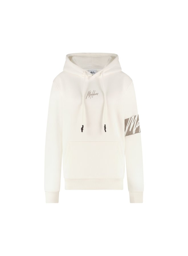 Malelions Women Captain Hoodie Off White/Taupe