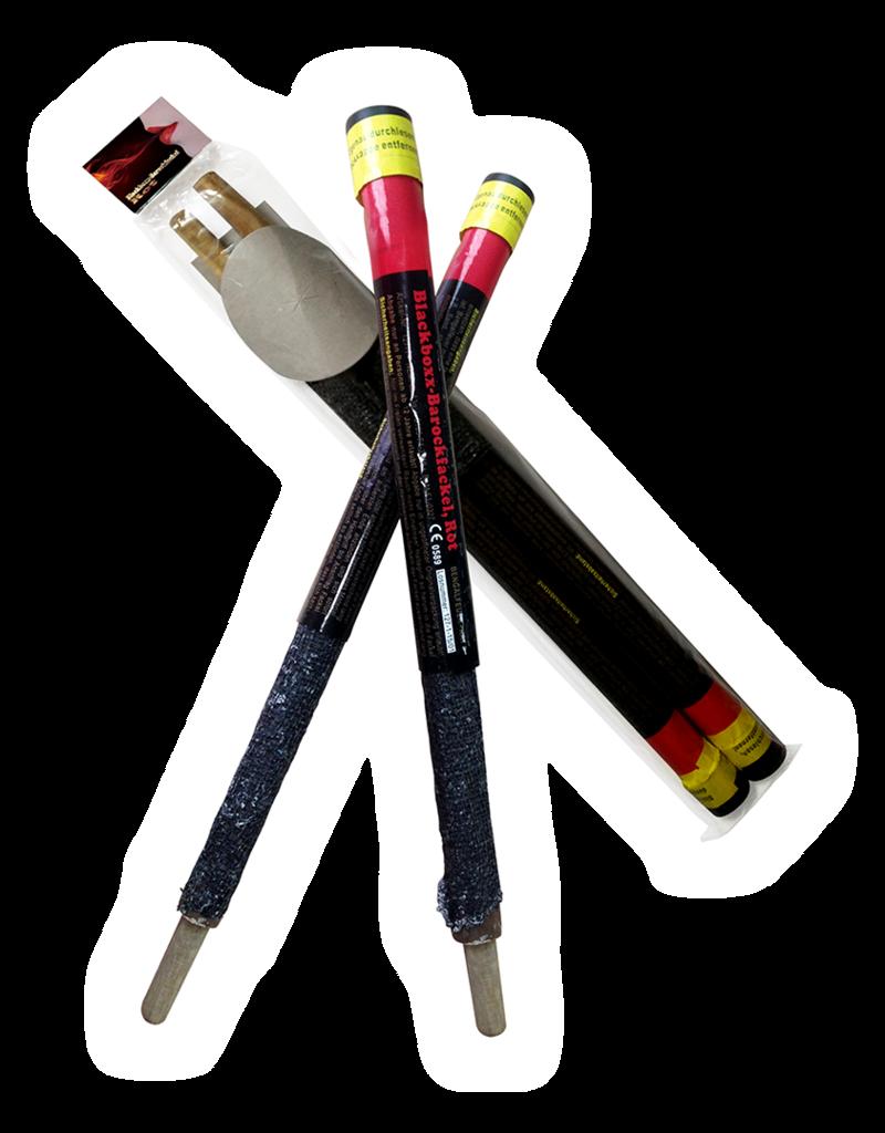 Blackboxx Fireworks Barockfackel,Rot 2er pack