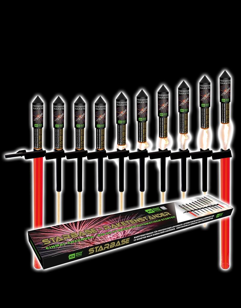 Blackboxx Fireworks Starbase 10-Profi Raketenständer  mit automatischer Zündfolge von Blackboxx Feuerwerk