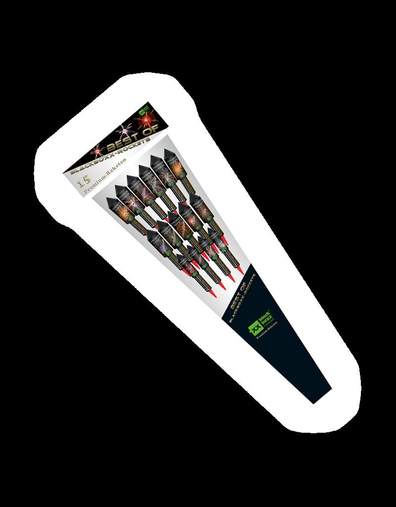 Blackboxx Fireworks Best of Blackboxx-Rockets (15er Beutel Premiumraketen)