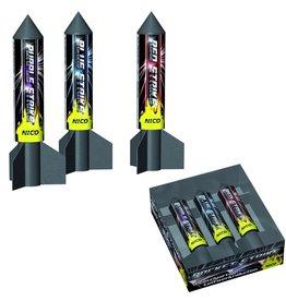 Nico Europe Rocket Strike,3 Leitwerk Raketen von Nico Feuerwerk