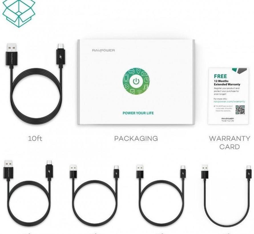 RAVPower Micro USB Kabel 5 Pack