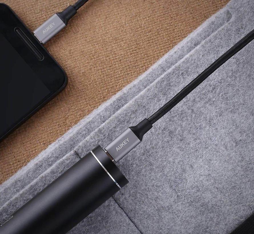 Aukey CB-CD5 USB-C naar USB-C Kabel 1 Meter