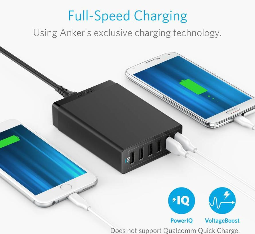 Anker PowerPort 6-Poort USB Multi Lader