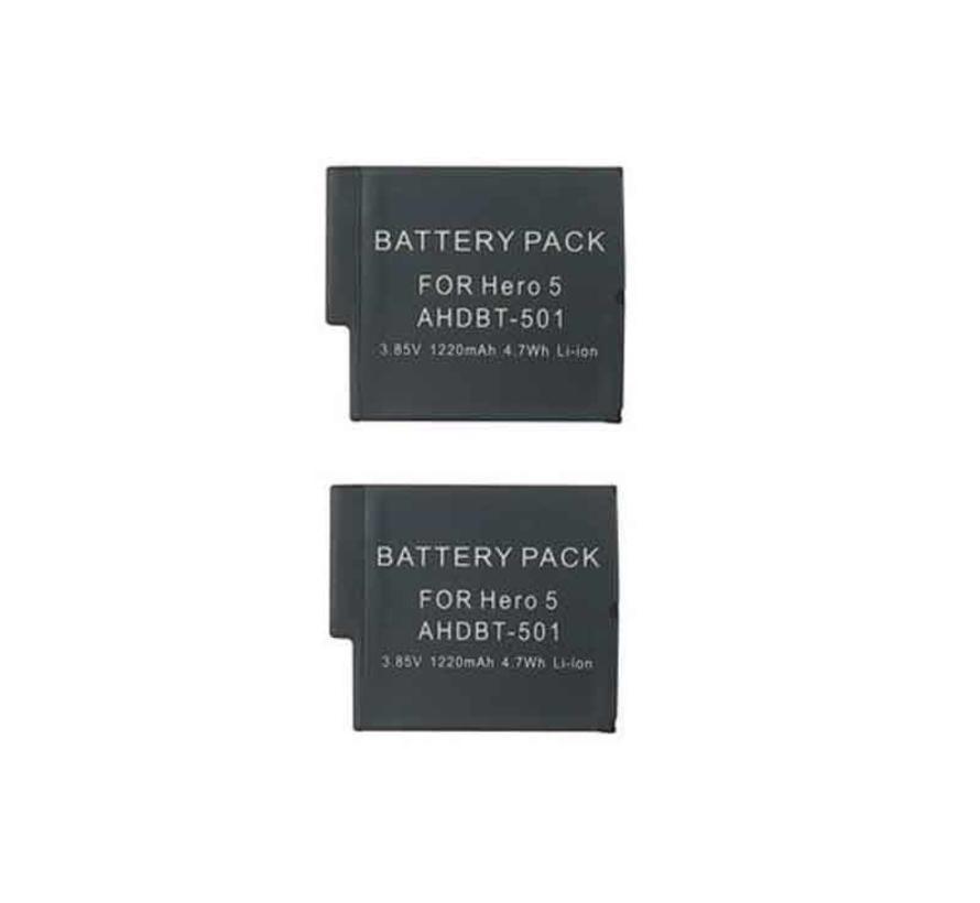 GoPro Batterij Hero 5 / 6  accu 1.220 mAh