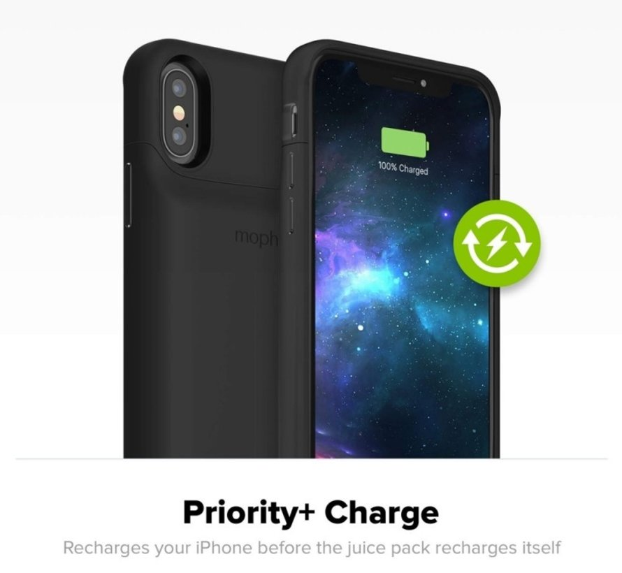 Mophie Juice Pack Access iPhone Xs Max - Zwart