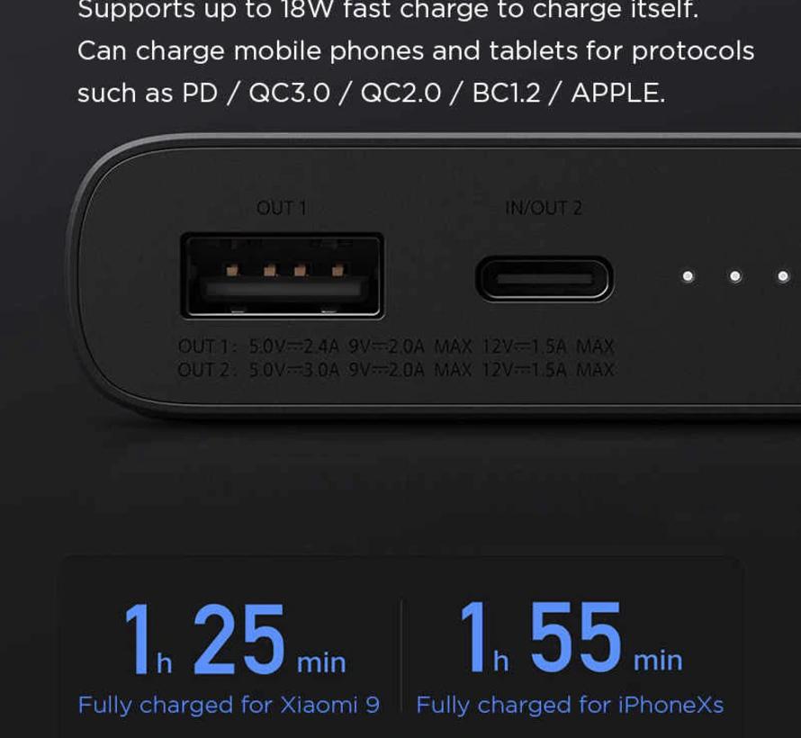 Xiaomi 10.000 mAh Wireless Qi Powerbank