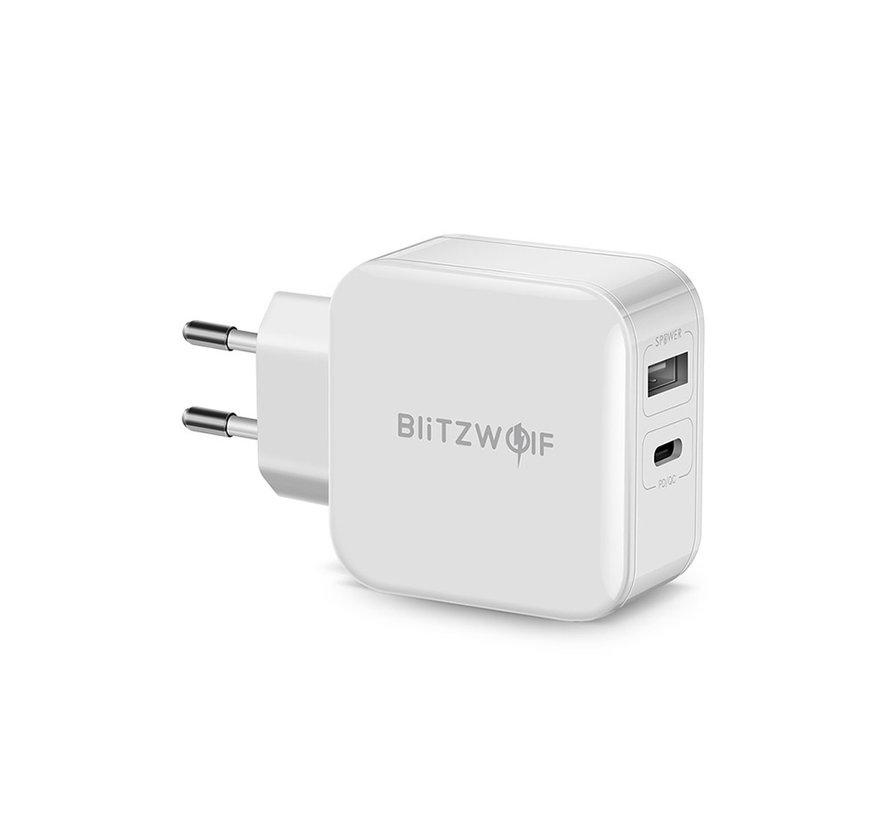 BlitzWolf BW-S11 USB-C PD lader wit