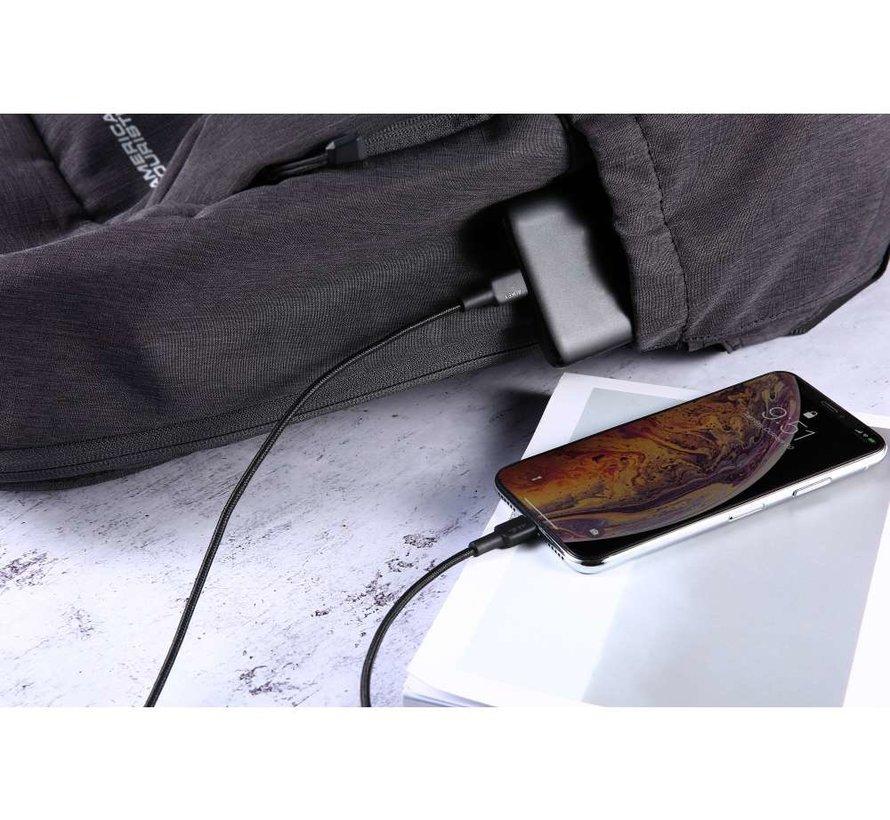 Aukey CB-CL2 USB-C PD naar USB Lightning kabel - 2M - Zwart
