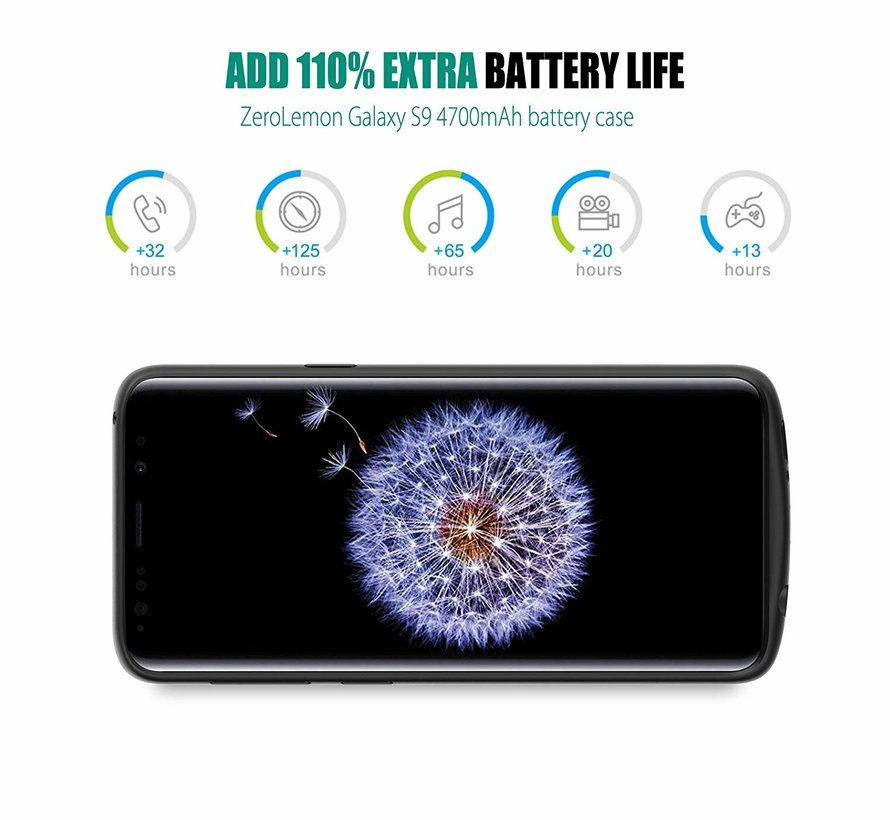 Samsung Galaxy S9 Battery Case - Zwart