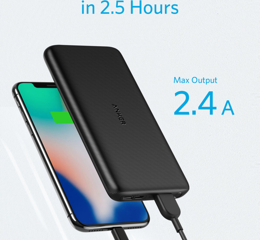 Anker PowerCore Lite Powerbank 10.000 mAh Zwart