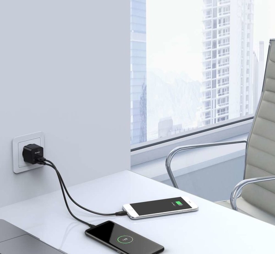 Aukey PA-U32 Mini Lader - 2 USB poorten