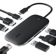 Aukey Aukey 8 in 1 USB-C Hub - met Ethernet