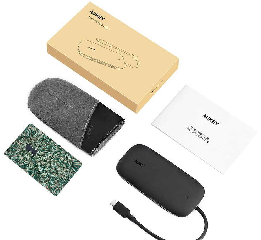 Aukey Unity Series 8-in-1 USB C Hub with Ethernet port - CBC71