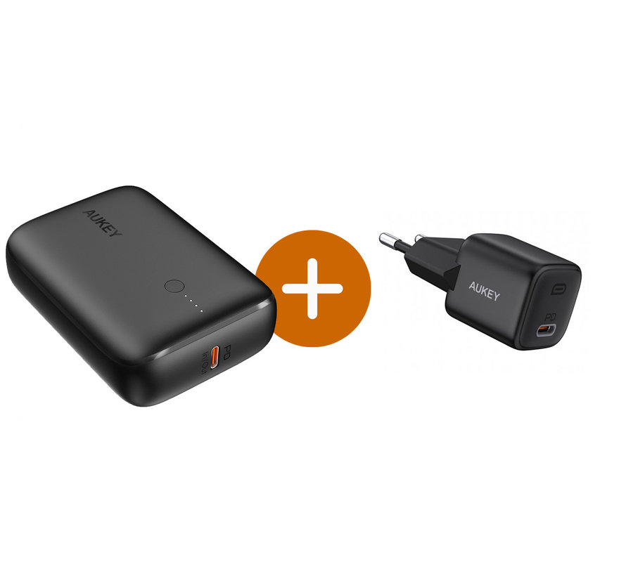 Aukey Powerbank Basix Mini 10.000 mAh 18W USB-C PD