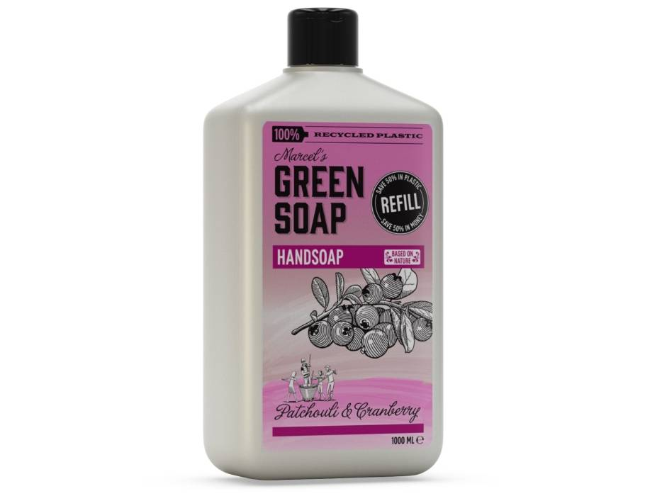 Marcels Green Soap Handzeep navulling - Patchouli & Cranberry