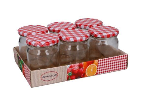 Eco-Import Lege Jam potjes - 6 stuks