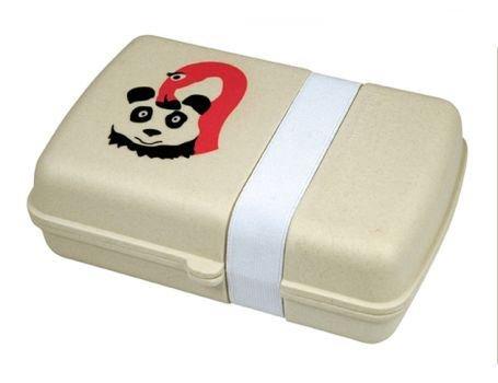 Zuperzozial Lunch box van bamboe - Flamingo