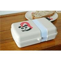 Lunch box van bamboe - Flamingo
