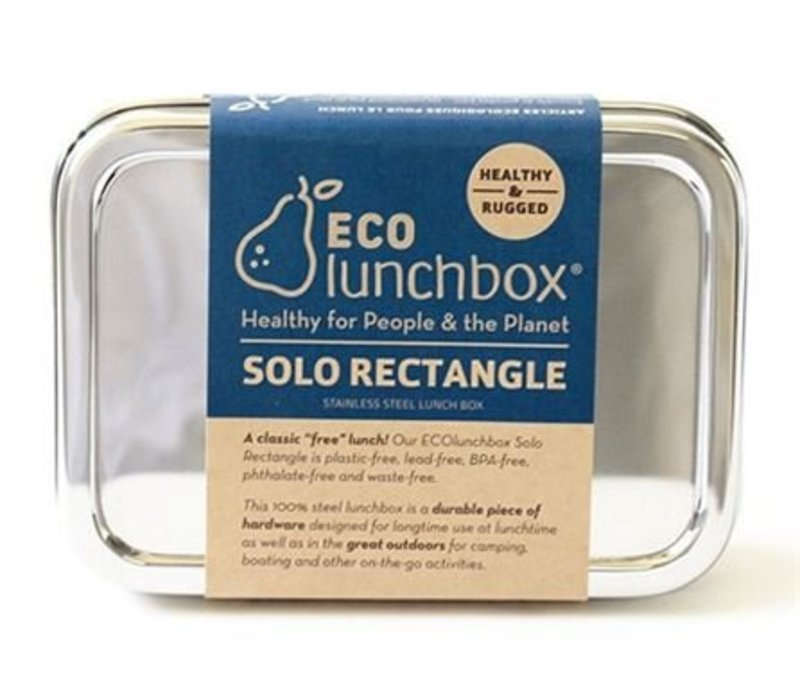 Lunchbox Solo Rectangle - roestvrijstaal