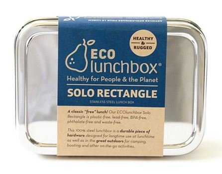 Eco lunchboxes Lunchbox Solo Rectangle - roestvrijstaal