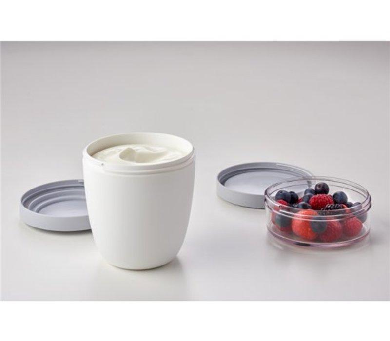 Lunchpot ellipse - Wit - BPA vrij