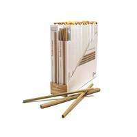 Rietjes van bamboe met borstel - 4 stuks