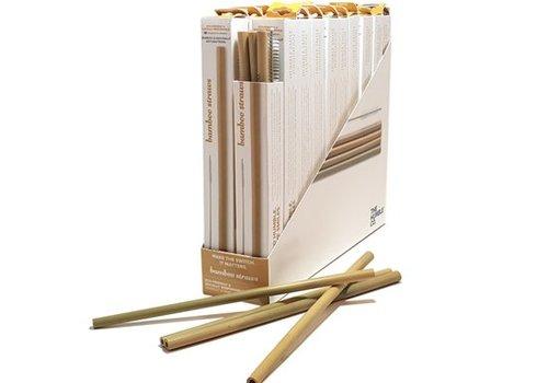 Humble Brush Rietjes van bamboe met borstel