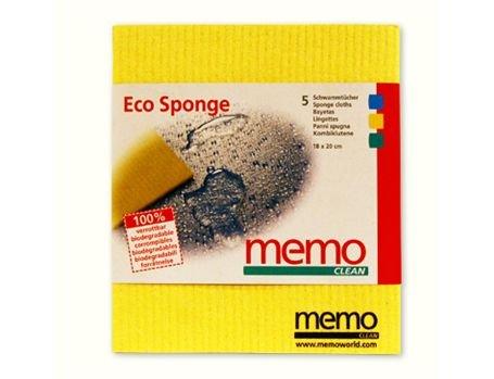 Memo Import Spons Doekjes - biologisch afbreekbaar -  5 stuks