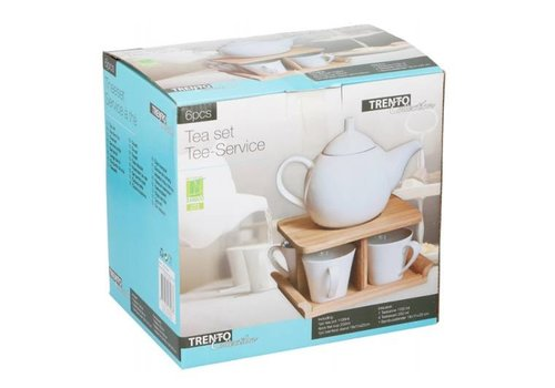 Eco-Import Theeservies incl. theepot - bamboe