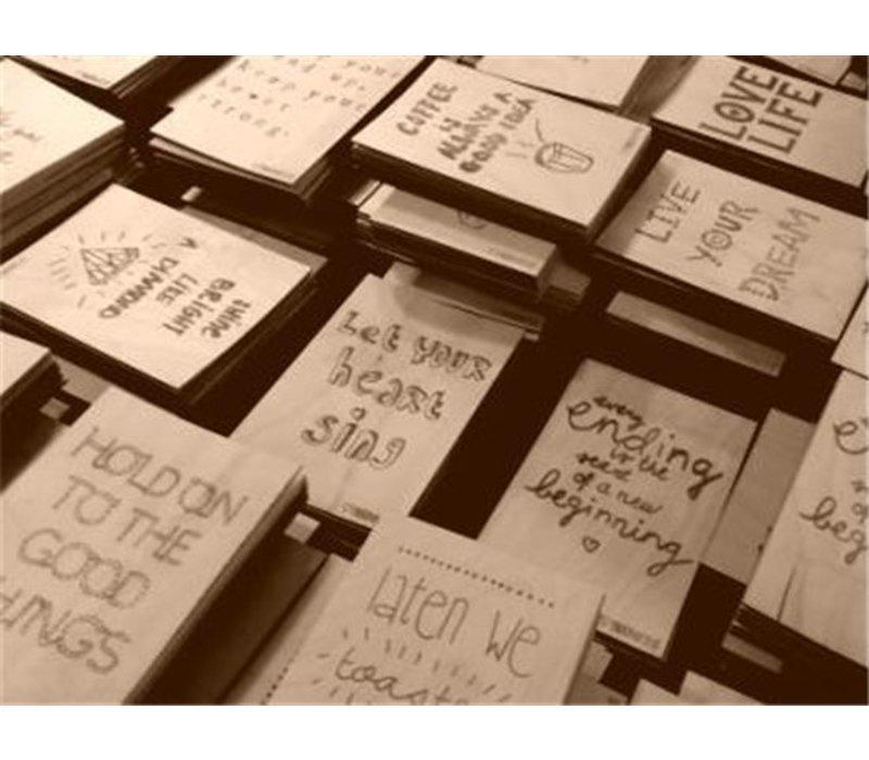 Set Houten briefkaarten - 5 stuks
