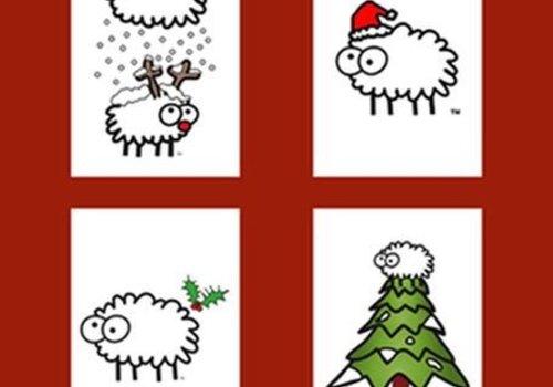 Creative Paper Wales Kerstkaarten van schapen keutels - 5 stuks