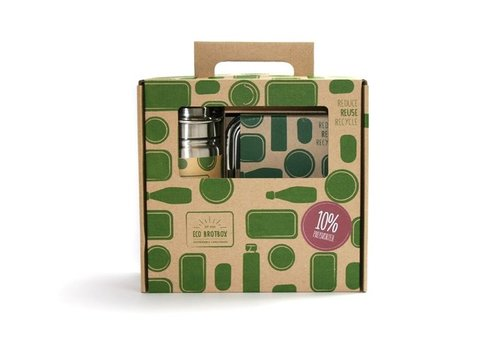 Eco-Brotbox Lunchbox en Drinkfles - cadeau set